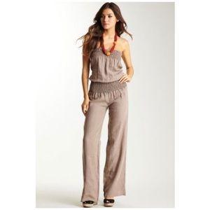 Young Fabulous Broke Pants Young Fabulous Broke Tan Jill Linen